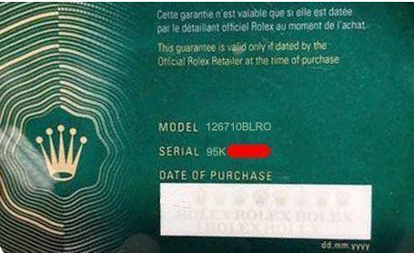 Garantia Rolex 2020